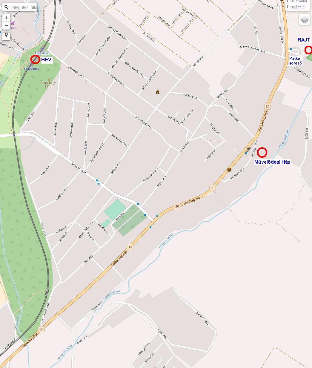 kerepes térkép Futapest Kerepes terepfutás kerepes térkép