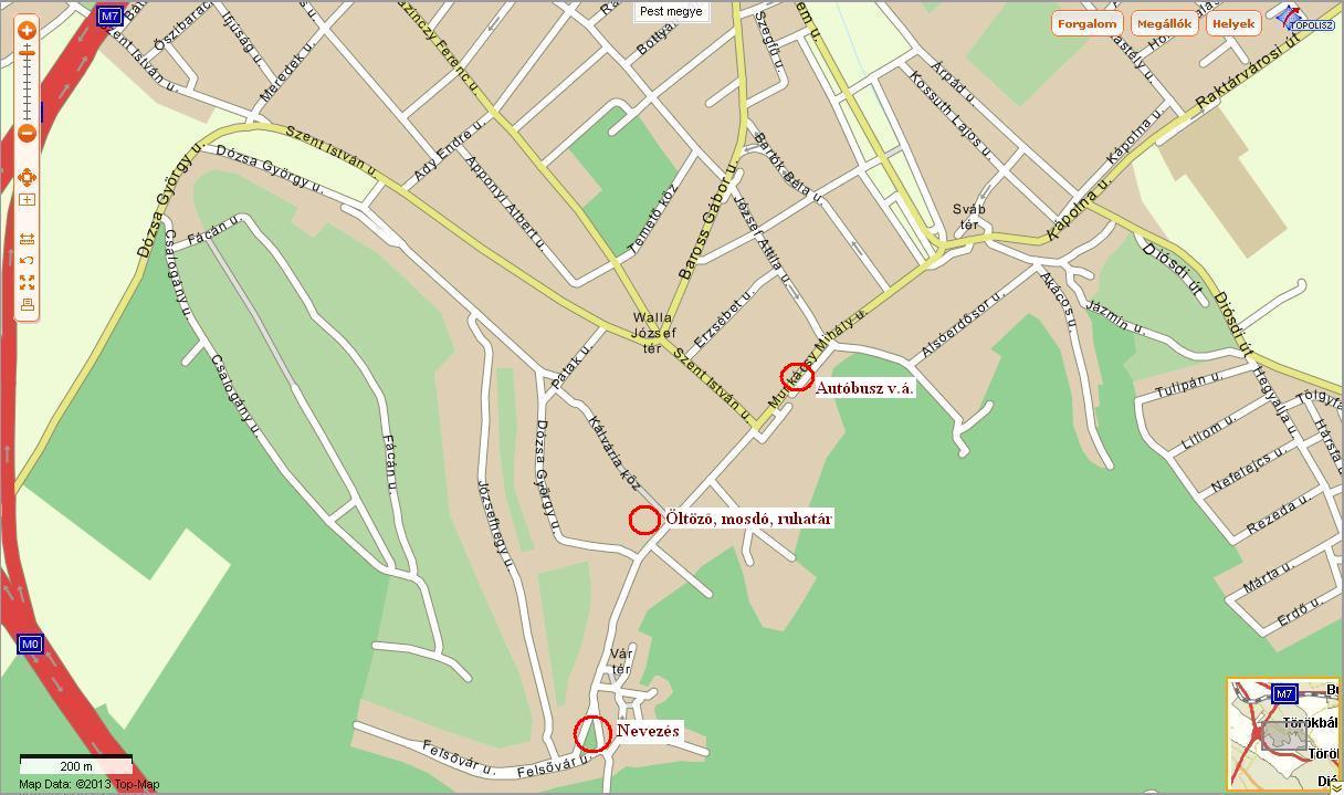 törökbálint térkép Futapest Törökbálint terepfutás törökbálint térkép